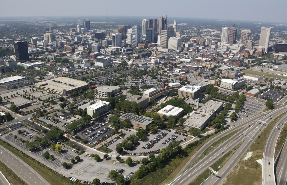 photo of campus and downtown