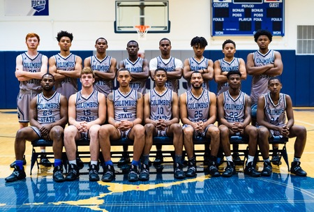 The entire basketball team for the 2019-2020 season.
