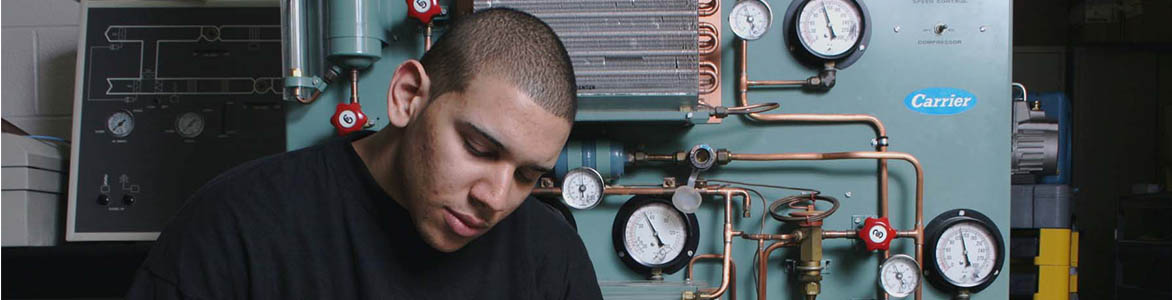 photo of HVAC tech