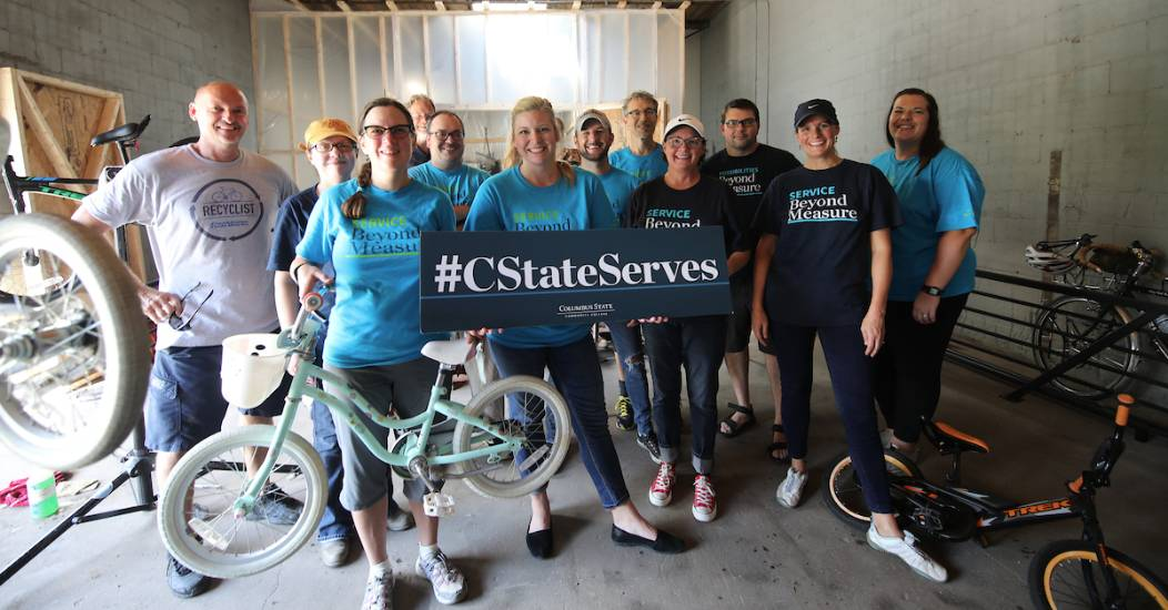 Columbus State volunteers assisted more than 90 nonprofit organizations in 2018