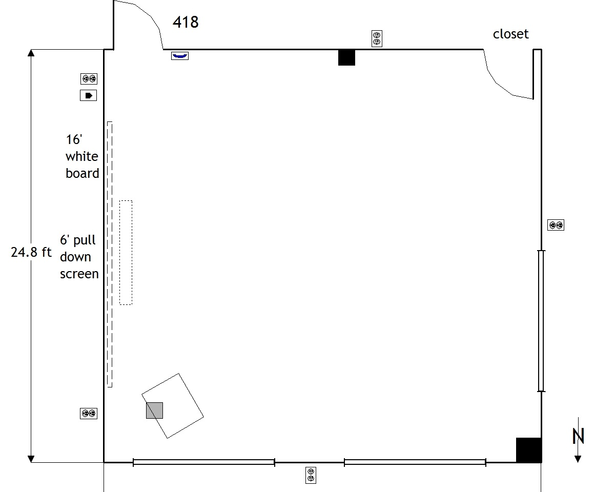 402 Room diagram