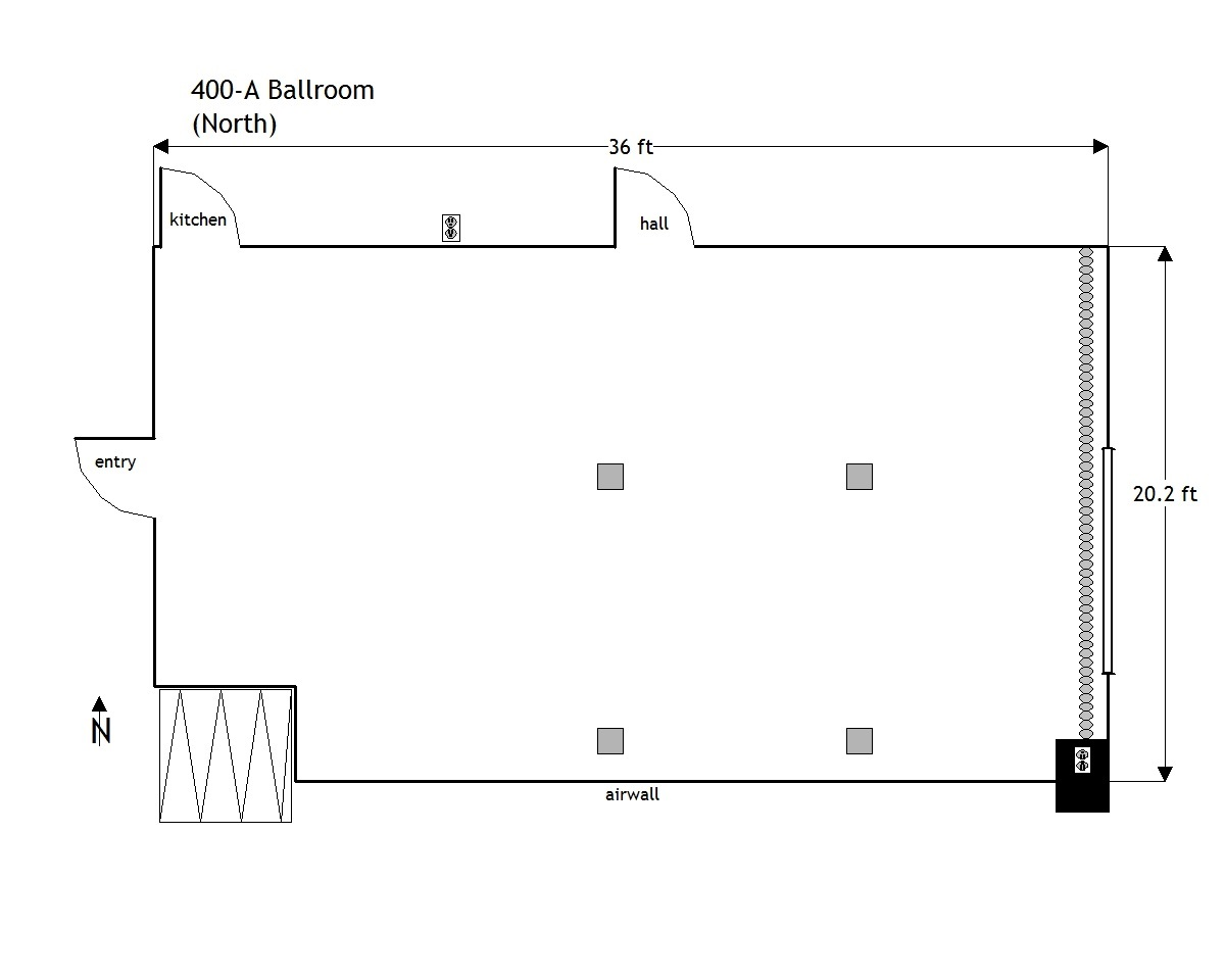 435 West Room Diagram