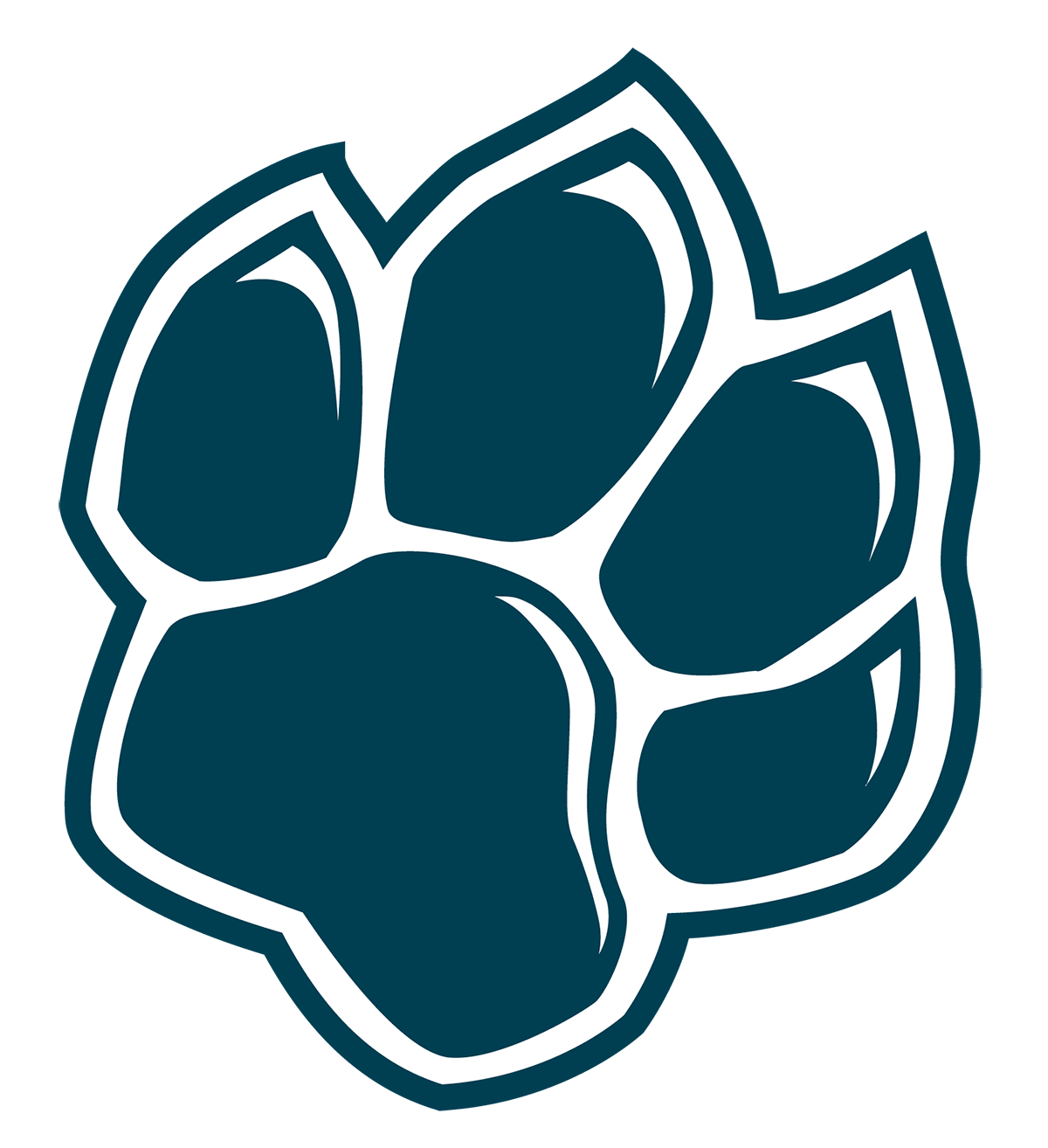 cougar paw graphic